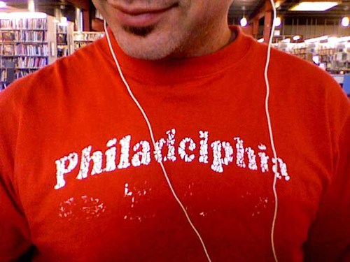 jonny goldstein models philly shirt