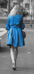 A woman in blue (MrAchab) Tags: blue candid selectivecolour pregamewinner