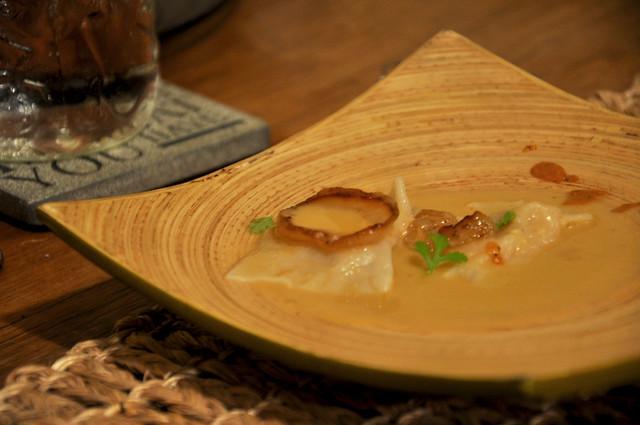 squash & oyster mushroom ravioli
