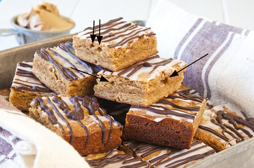 Glazed Peanut Butter Bars --mistake