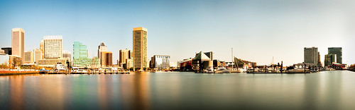 Baltimore Harbour Long Exposure Pano