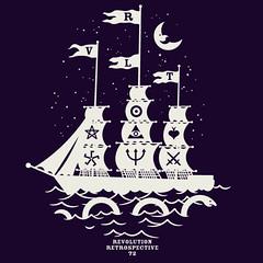 rvlt-midnight-marauder (Fashion Graphics) Tags: art fashion monster night print design boat graphics mood purple pirates sails indigo tshirt flags midnight revolution