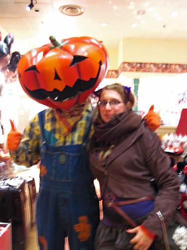 With Mean Pumpkin Man