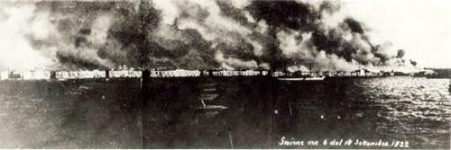İzmir yanıyor. 14 Eylül 1922.