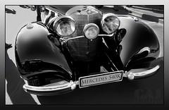 Mercedes 540K B&W (C.A.J.) Tags: classic photoshop mercedes historic grill hood oldtimer headlight coupe automoble 540k autoglamma worldcars slowcars wordcars
