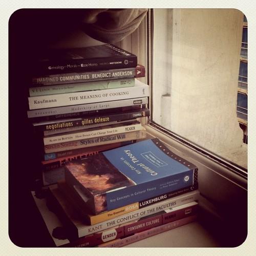The windowsill is also my bookshelf