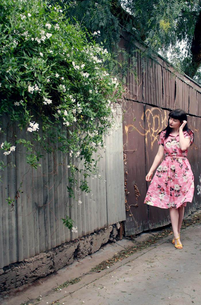f pink floral k