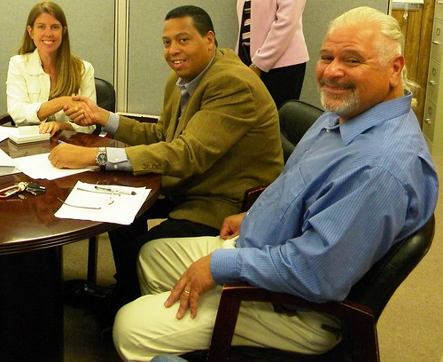 Signing the loan: Picture (L-R) USDA RD Business and Cooperative Specialist Jennifer Lerch, Tribe Chairman Cedric Cromwell and Tribe Treasurer Mark Harding.""