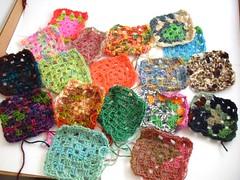 sock yarn granny squares
