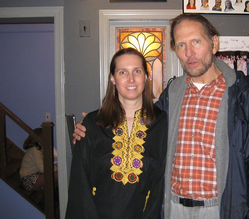 Actor Jim Navarre with fan Kimberly Wilder