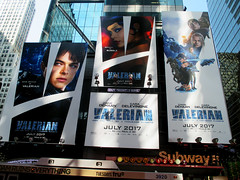 Valerian and the City of a Thousand Planets Billboard Poster 8183 (Brechtbug) Tags: valerian city thousand planets billboard poster times square nyc 2017 french science fiction comics series from 1967 valérian laureline written by pierre christin illustrated jeanclaude mézières film movie directed luc besson new york 07012017