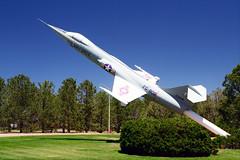 F-104C Starfighter 56-0936 (Ian E. Abbott) Tags: lockheedf104cstarfighter lockheedf104starfighter lockheedf104c lockheedf104 f104cstarfighter f104starfighter lockheed f104c f104 starfighter centuryseriesfighter centuryseries petersonairspacemuseum petersonairforcebase petersonafb coloradosprings 560936 560808 coldwaraircraft planesonpoles