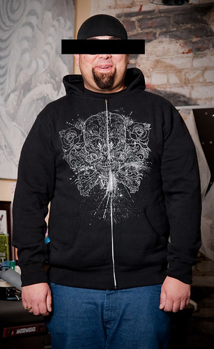 09SERIES2: HOODIE: JIM: ORNATE SKULL