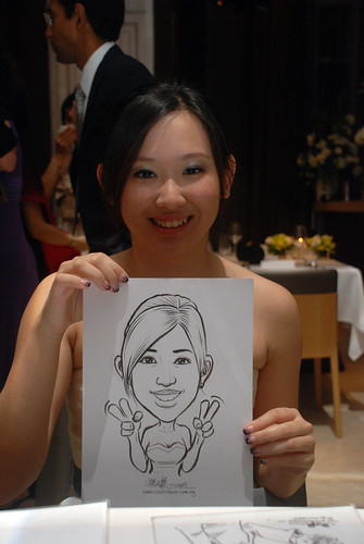 Caricature live sketching for AMEC Party - 7