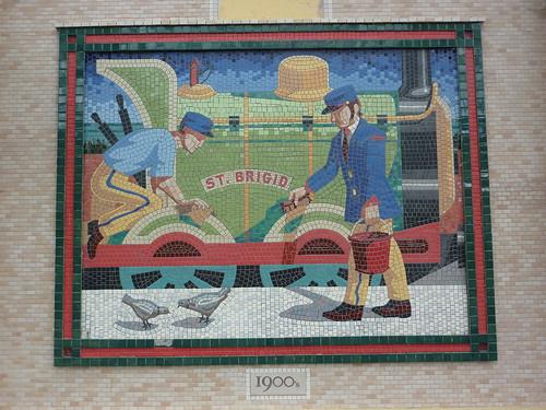 Mosaic panels at Bray DART station