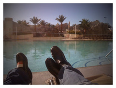 56 degrees poolside.