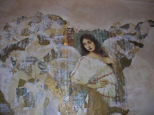 Mural in Gina - the restroom