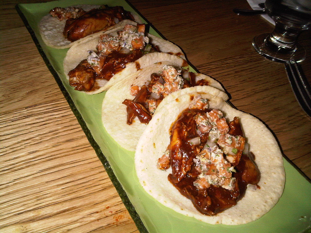 Tinga de Mole - pulled organic chicken, mole poblano, sweet potato