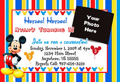Mickey Mouse Striped Invitation (printmperfect) Tags: out this you like free if theme proof would purchase request fill forma customize a hrefhttpprintmeperfectcomdesignprocessorderformplease