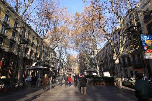 La Rambla, Barcelona.