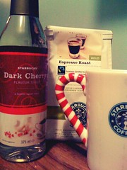 DIY Dark Cherry Latte (ash matadeen) Tags: coffee diy starbucks latte foodanddrink camerabag doityourself starbuckscoffee espressoroast starbucksmug darkcherry darkcherrysyrup