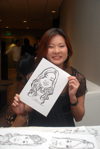 Caricature live sketching for Lonza - 19
