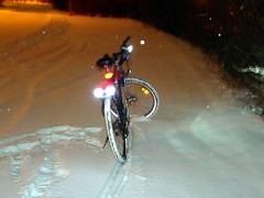 Test ride under harsh conditions (.:madworm:.) Tags: winter snow bike toy led pcb rgb roadsafety pwm avr arduino oshw 8pixels batchpcb kicad