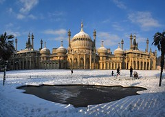 Brighton Pavilion on ice