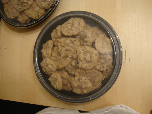 big container of cookies