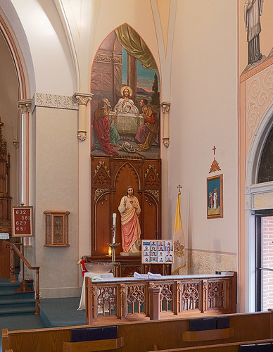 Saint Francis of Assisi Roman Catholic Church, in Aviston, Illinois, USA - altar of the Sacred Heart of Jesus