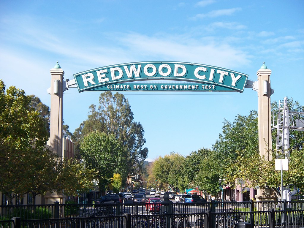 Redwood City Sign on Broadway by Rebecca Williamson, on Flickr