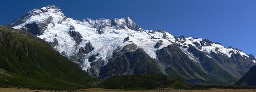New Zealand Southern Alps panoramic photo