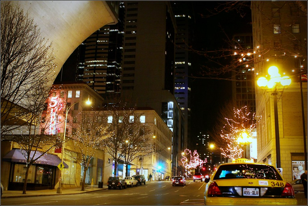 Rainier Tower & Taxi