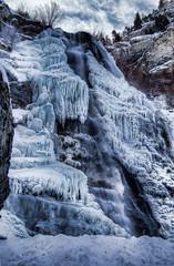 [フリー画像] [自然風景] [滝の風景] [氷] [HDR画像] [アメリカ風景]      [フリー素材]