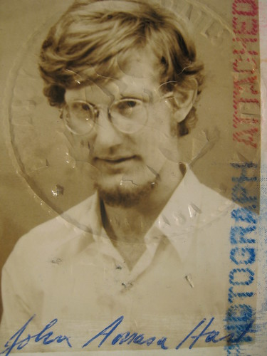 picture from passport John acquired from embassy in Zaire (1974)