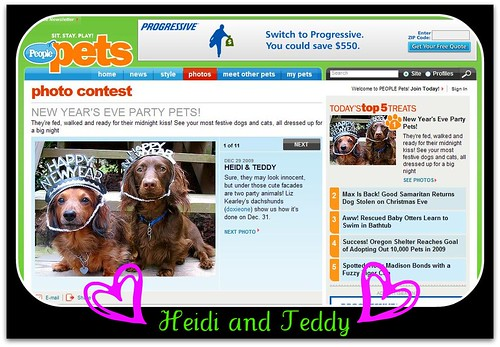 Heidi and Teddy are featured on People Magazine's Pet Web Site