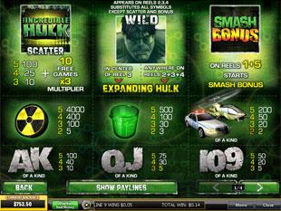 free Incredible Hulk slot mini symbol