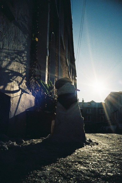 Snow Man in the Sun