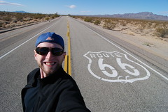 Getting my kicks on Route 66 near Essex, California