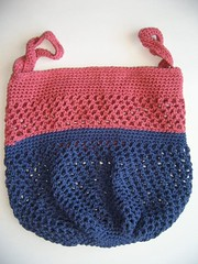 Crochet grocery bag pattern by Knot By Gran'ma