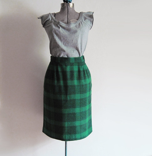 plaid skirt combo