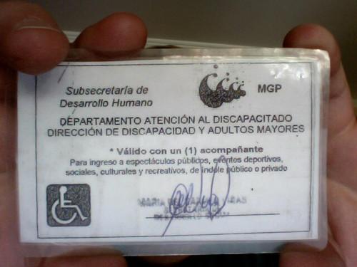 carnet de discapacitado