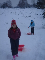 Sledging! (Marybootrixie) Tags: winter snow sledge ludshottcommon