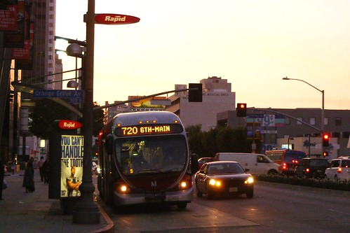 720 Bus At Dusk, Wilshire at Fairfax