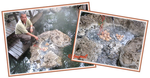 Egg boiling at Felda Residence Hot Springs (Sungai Klah Hot Springs Park)