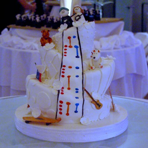 Mad Hatter Wedding Cake with Guitar Hero
