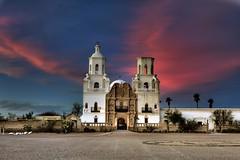Mission with dramatic sky copy (kinoshaman) Tags: sunset arizona church tucson iglesia mission pinkclouds sanxavierdelbacmissionsanxavierdelbacsanxavier