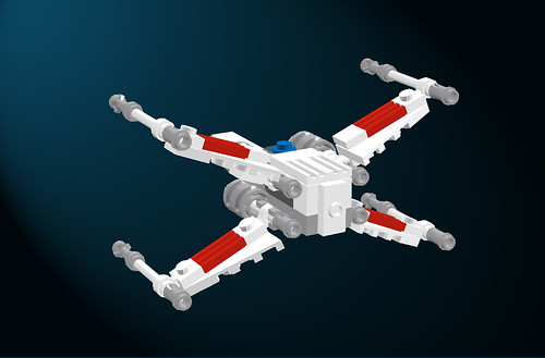 Micro-scale X-Wing Fighter (LDD)