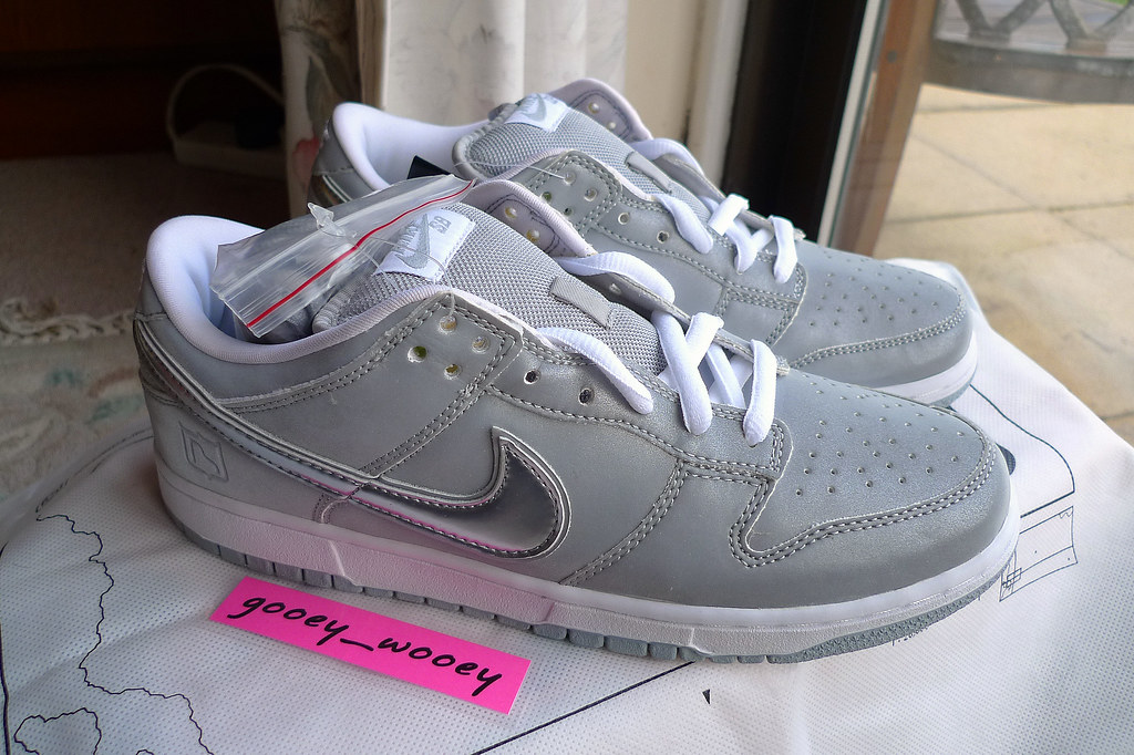 on sale 51de4 c7d67 Nike Dunk Low Pro SB  Medicom 3  - Silver   Chrome (304292 008