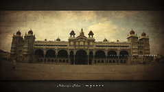 Mysore Palace. (SiddharthDasari) Tags: india black texture tourism monument architecture canon treasure state festivals royal grand prince palace huge whoa karnataka mysore magnificent dasara mysorepalace royalfamily detailing dussehra princely wodeyar dussera incredibleindia canonrebelxs canoneos1000d wadiyar siddharthdasari